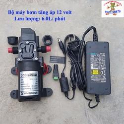 Bộ máy bơm tăng áp 70W 12 volt 6Lit tự động ngắt