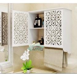 Tủ treo tường nhà tắm họa tiết hoa văn cổ điển TADA - TD117