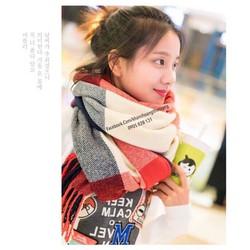 Khăn len caro Hàn Quốc