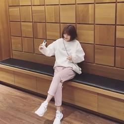 Áo nỉ nữ cá tính phong cách Korea thiết kế cá tính độc đáo