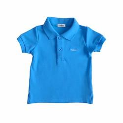 Áo cộc tay ngắn  Tiniboo xanh trơn bé trai