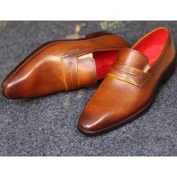 Giày lười mọi nam công sở đẹp, giày da nam cao cấp
