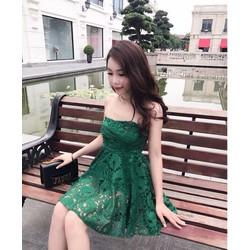 Đầm xoè ren cúp ngực