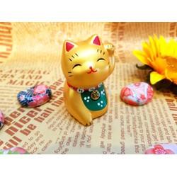Mèo Maneki Neko nhũ vàng