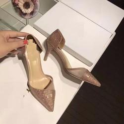 Giày cao gót nữ hở eo đính đá - LN1275