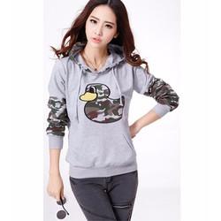 áo thun hoodie hình con vịt Mã: AX1936 - XÁM