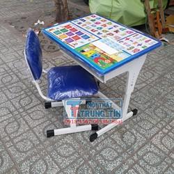 Bàn học sinh, Bộ bàn học sinh tăng chỉnh chiều cao giá rẻ màu xanh
