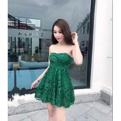 Đầm xoè ren cúp ngực  so hot