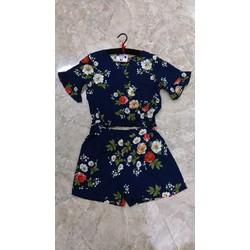 Set áo hoa + quần short