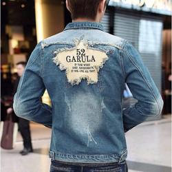 áo khoác jeans 2 túi garula Mã: NK0687 - XANH NHẠT