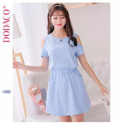Đầm Midi Nữ Eo Váy Co Dãn Phong Cách Hàn Quốc Thời Trang DODACO