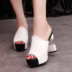 Giày cao gót hở mũi, gót đẹp thời trang