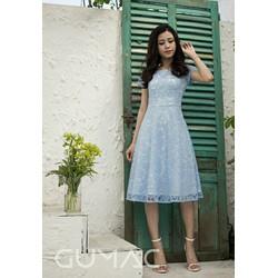 Đầm ren tay ngắn