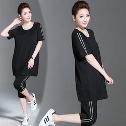 Set quần lửng from dài Black Style