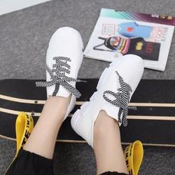 Giày thể thao nữ cột dây sành điệu