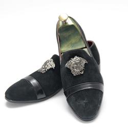Giày lười da lộn phong cách Hàn Quốc