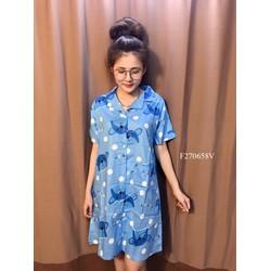 Đầm suông mặc nhà Pikachu tay con - MS: S270675 Gs: 85K