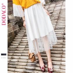 Chân Váy Midi Xếp Li Nữ Hàn Quốc Thời Trang DODACO