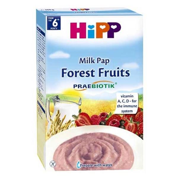 Bột ăn dặm Hipp bột sữa hoa quả rừng 6M+ 3221 1
