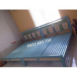 giường sắt LG  giá rẻ cao cấp 1m6x2m  LG_07 mẫu mới độc lạ