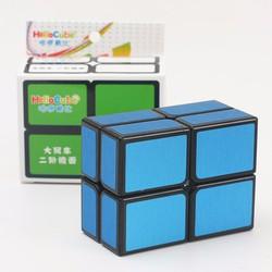 Rubik HelloCube Flat 2×2 Xanh dương