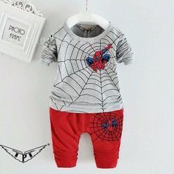 Bộ dài tay in người nhện cá tính cho bé trai 1-8 tuổi NX1062