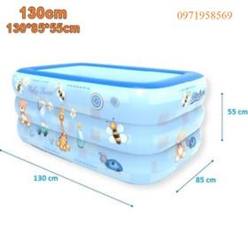 Bể bơi phao 3 tầng cao cấp cho bé size 130x85x55cm - Bể bơi phao 3 tầng cao cấp