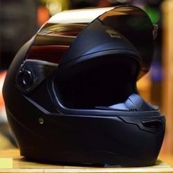 TẶNG KÍNH - Mũ bảo hiểm royal M136 đen nhám kính trà + 01 kính phụ