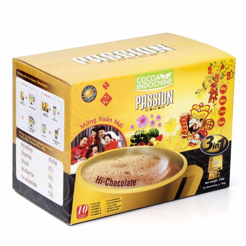 Bột Cacao Hòa Tan Passion 3 In 1 Cocoa Indochine - Hộp 15 gói x 16g - 4905651 , 6178092 , 15_6178092 , 48000 , Bot-Cacao-Hoa-Tan-Passion-3-In-1-Cocoa-Indochine-Hop-15-goi-x-16g-15_6178092 , sendo.vn , Bột Cacao Hòa Tan Passion 3 In 1 Cocoa Indochine - Hộp 15 gói x 16g