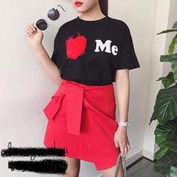 Sét áo in trái tim chân váy cột xinh iu