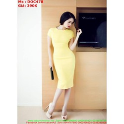 Đầm body dự tiệc kiểu dáng đơn giản phong cách sang trọng DOC477