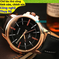 Đồng hồ chính hãng cơ cao cấp mạ PVD vàng mặt sapphire chống nước