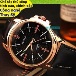 Đồng hồ chính hãng kim cao cấp mạ PVD vàng mặt sapphire chống nước