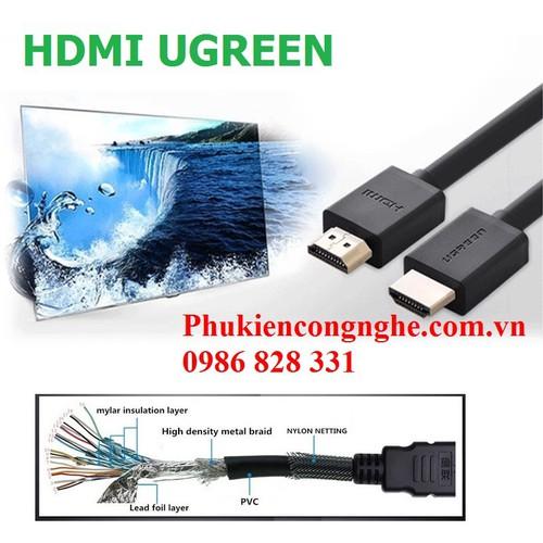 Cáp HDMI 5M Ugreen cao cấp hỗ trợ Ethernet 4K 2K UG-10109