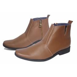 Giày boot kéo khóa da bò thật.Bảo hành 12 tháng.MS: B92