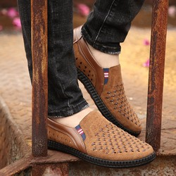 Giày lười nam mầu nâu
