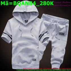 Bộ quần áo short nam nón có quai BQAN84