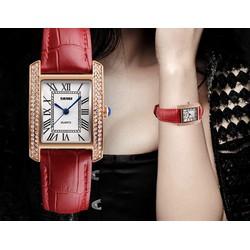 Đồng hồ nữ Skmei phong cách đính hạt sang trọng SK117 8 màu tùy chọn
