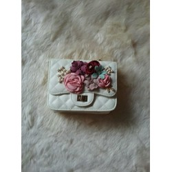 Túi đeo chéo nữ đính hoa nổi cực dễ thương