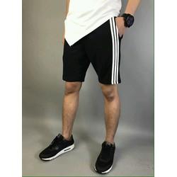 Quần Short thun nam kiểu dáng phối viền 3 sọc thể thao năng động