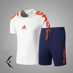 Bộ đồ thể thao nam Áo trắng quần đen