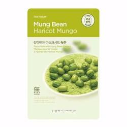 Mặt nạ đậu xanh Real Nature Mung Bean Haricot Mungo TheFaceShop