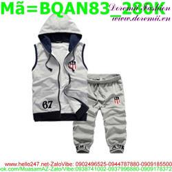 Bộ quần áo short nam sát nách cá tính BQAN83