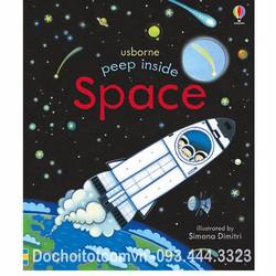 Sách Usborne - Khám phá vũ trụ - Peep Inside The Space