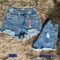 Quần short jean rách size 26-28