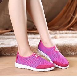 Giày mọi nữ đi bộ cực êm chân, phối màu hiện đại BB201M