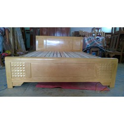Giường ngủ gỗ sồi tự nhiên MS A3