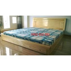 Giường ngủ sát đất kiểu nhật gỗ sồi tự nhiên