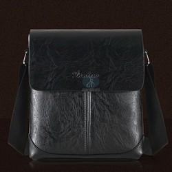 Túi đeo chéo ipad nam da bò màu đen