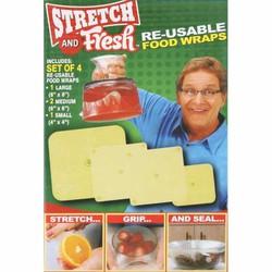 Bộ 4 miếng màng bọc thực phẩm Silicon cao cấp